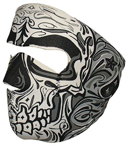 Black Grey Sugar Skull Muerte Day of Dead Neoprene Face Mask Biker Ski -