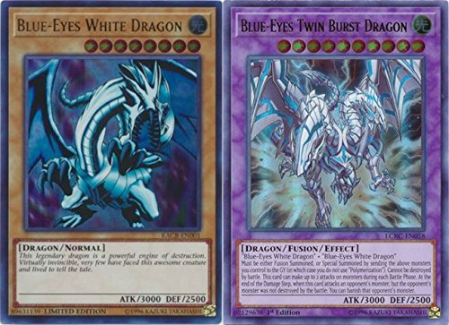 Blue-Eyes Twin Burst Dragon LCKC-EN058 Ultra Rare 1st Ed NM