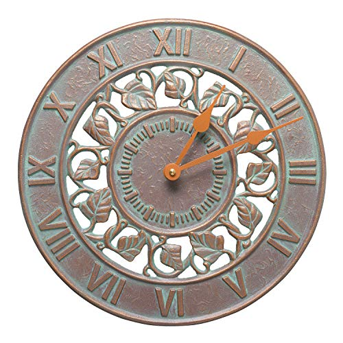 Whitehall Products Ivy Silhouette Clock, Copper Verdi