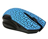 ZPS Wireless 2.4ghz Silent Noiseless Gaming Mouse Mice with Nano USB Receiver Blue