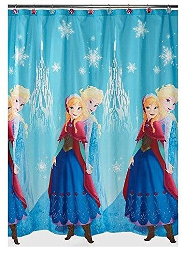 Disney Frozen Anna And Elsa Shower Curtain Blue