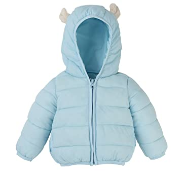 64f590f7a922 Amazon.com   Foutou Kids Baby Boys Girls Winter Warm Hooded Down ...