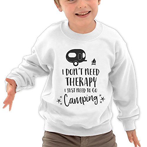 Puppylol Need Therapy Kids Classic Crew-Neck Pullover Sweatshirt White 2 Toddler