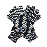 """NFL Tennessee Titans """"Gloves Off"""" Space Dye Striped Gloves, One Size, Navy/Black/Grey"""