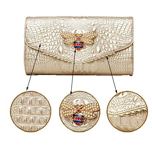 Nai Li Cadenas Para El Hombro De Las Mujeres Gold Banquet Decorations Embrague Champagne