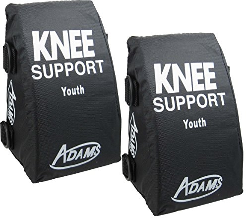 Adams Youth Catcher's Knee Supports for Boys and Girls, Baseball and Softball Catcher Knee Wedge Cushion Leg Pads