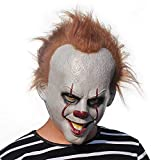 Halloween Mask Scary, Head Mask Pumpkin Halloween Costume Party Decoration Cosplay Props for Adult(red Hair)
