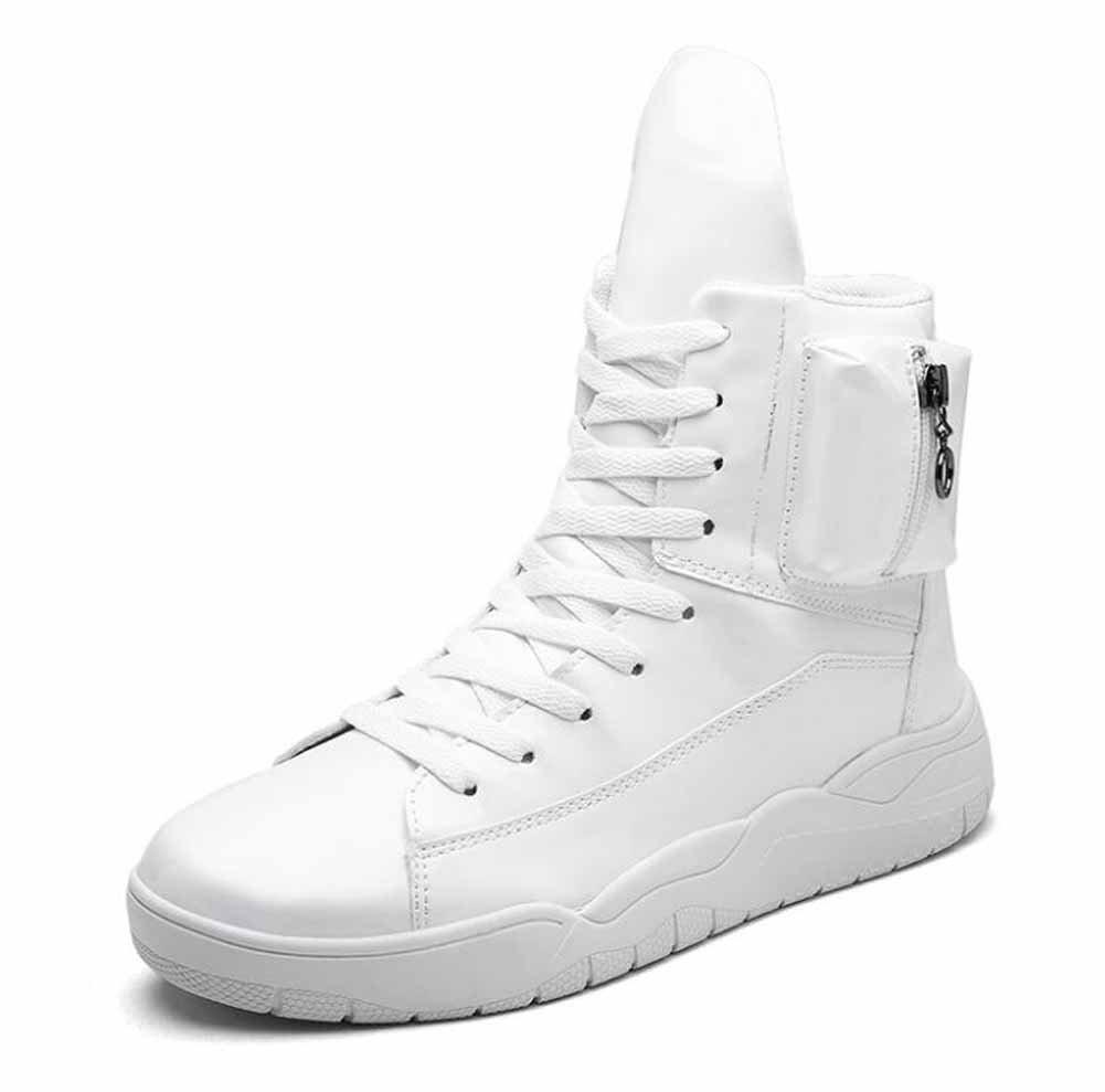 Hombres ligeros Martin Boots 2017 Otoño Invierno Nueva Hi-Top Sneakers Moda Deportes Skateboard Shoes ( Color : Blanco , Size : 40 ) 40|Blanco