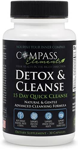 Detox & Cleanse 15 Day Quick Cleanse Advanced Formula | Supports Digestive & Immune Health Weight Loss Energy Levels | Colon Cleanse Gentle & Natural Dietary Supplement
