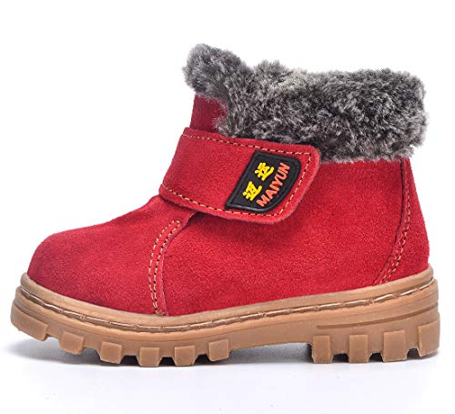 Toddler//Little Kid//Big Kid Boys Girls Classic Waterproof Suede Leather Snow Boots
