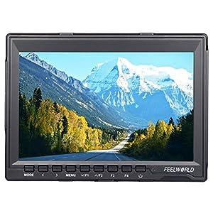 FEELWORLD FW759 7 Inch HD 1280x800 IPS On Camera Field Monitors Camera HDMI Monitor for Cannon,Sony,FPV