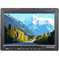 FEELWORLD FW 759 7 inch HD 1280x800 IPS On Camera Field monitors 16:10 or 4:3 Adjustable Ratio 800:1 Contrast Camera HDMI monitor for Cannon,Sony,FPV monitors etc