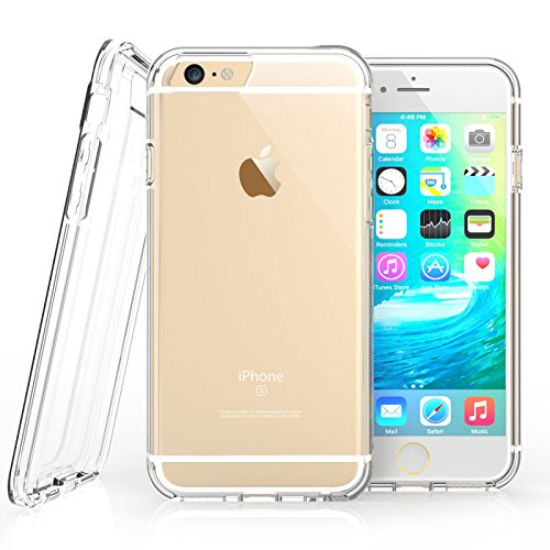 iPhone 6S Case, Clear By Caseflex [Reinforced Edges] TPU Gel [with Precision Port Cut-Outs & Button Moulds] Fits iPhone 6s / iPhone - Uk Designer Sales