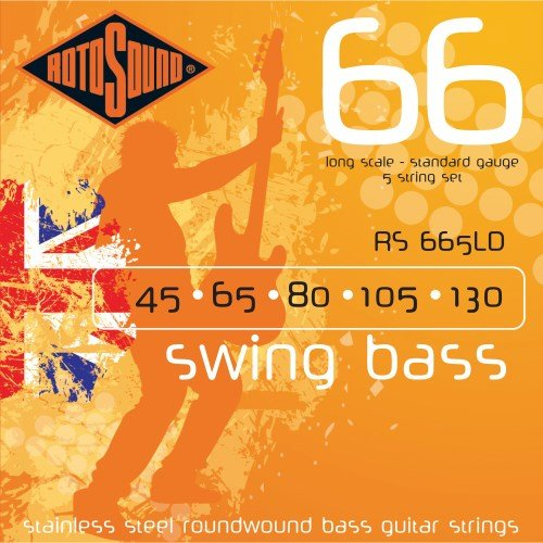Rotosound RS665LD Swing 66 Bass Guitar Strings - .045-.130 Long Scale 5-Str Rotosound Swing Bass