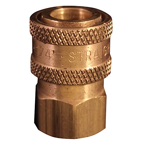 "Milton 1761 1/4"" FNPT Straight Through Coupler - Box of 10"