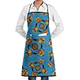 Treasure Hunters Metal Detector Unisex Adjustable Kitchen Aprons Cooking Baking Aprons With Pockets