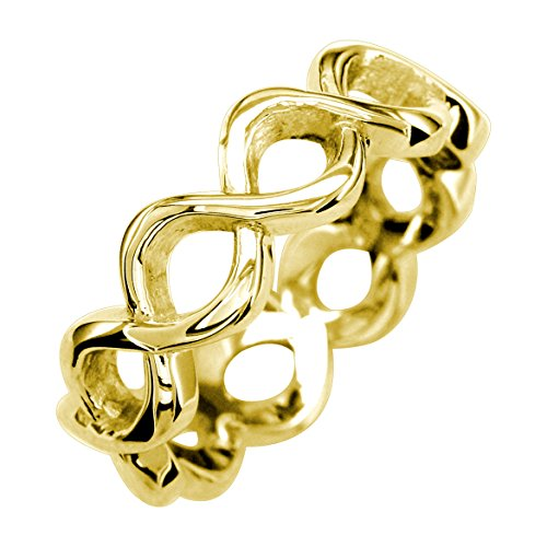 Infinity Ring Puzzle in 14K Yellow Gold size 10 14k Yellow Gold Puzzle Ring