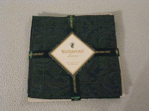 Waterford Linens Fingertip Towels Cocktail Napkins, Set of Four, Green Leaf ()