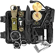 Achort Survival Gear and Equipment, 12 in 1 Professional Survival Kit, Camping Hunting Gear Tools, First Aid S