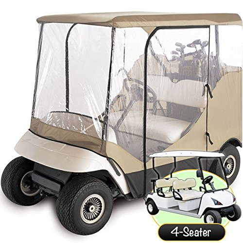 WATERPROOF SUPERIOR BEIGE AND TRANSPARENT GOLF CART for sale  Delivered anywhere in Canada
