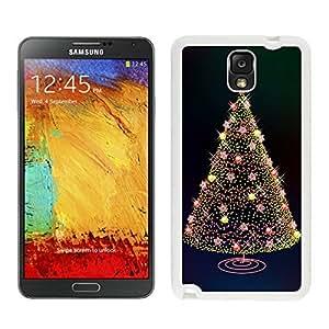Galaxy Note 3 Case,Stars Birht Lights Christmas Tree Black TPU Note 3 Case-Christmas Series Samsung Note 3 Case