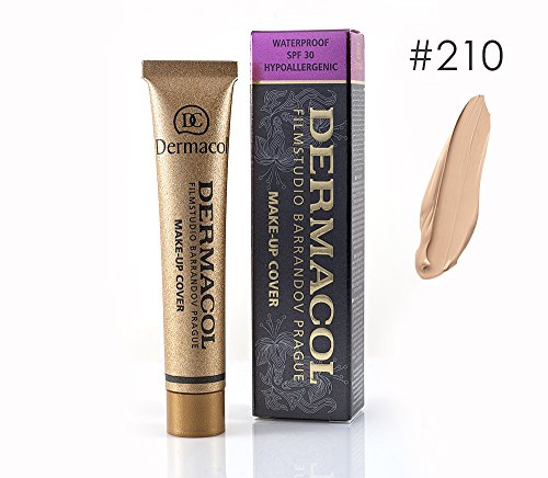 Dermacol High Cover Make-up Foundation Waterproof Hypoallergenic Foundation (210) Authentic