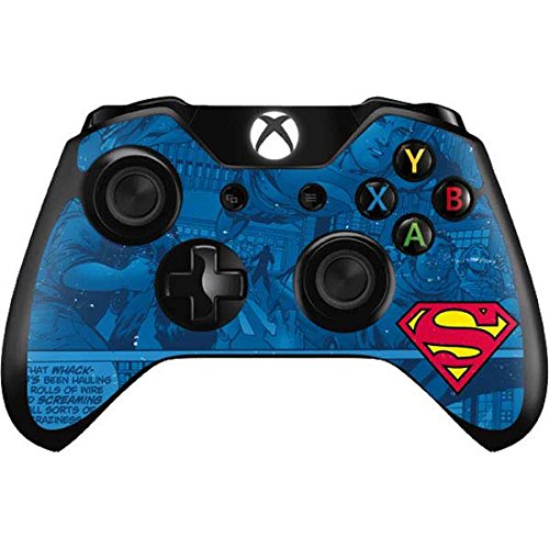 Skinit Superman Logo Xbox One Controller Skin - Officially Licensed Warner Bros Gaming Decal - Ultra Thin, Lightweight Vinyl Decal Protection (Superman Xbox One Game)