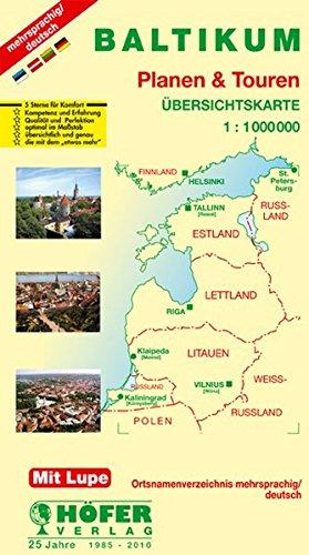 Baltikum - Estland/Lettland/Litauen 1 : 1 000 000. Planen & Touren