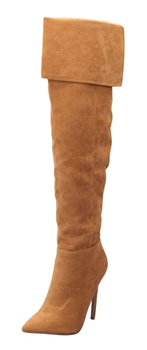 cost charm hot new products wholesale dealer katypeny Women's Sweet Pointy Toe Suede Over The Knee Thigh High Stiletto  High Heel Zipper Boots