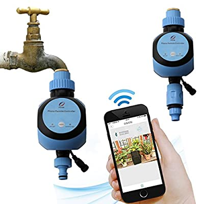 A-SZCXTOP Smart Sprinkler Controller, Wi-Fi Automatic Remote Irrigation Controller with Timer for Lawn Greenhouse Garden,Support IOS and Android Systems