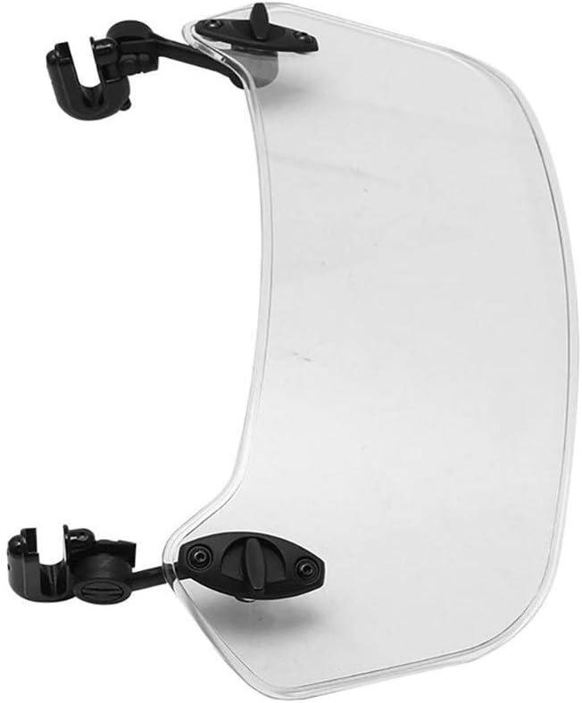 Accessoires dombrage Pare-Brise Moto Compatible with Color : Clear Jinchao- Van de d/éflecteur Pince Variable Pare-Brise Spoiler Extension