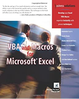Writing Excel Macros with VBA 2nd (second) Edition by Steven Roman, PhD published by OReilly Media (