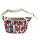 Watermelon Summer Fanny Pack with Fun Cute Design - 3 Pockets, Water Resistant, Stylish Bum Bag Waist Pack for Women