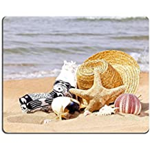 Liili Mouse Pad Natural Rubber Mousepad summer holiday accessories on a beach Photo 20212592