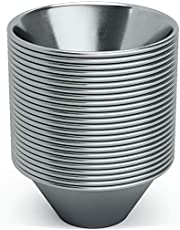 Pro Grade, Stainless Steel 1.5oz Sauce Cups 24 pack. Reusable, Stackable Metal Portion Containers for Sampling, Salad Dressing, Sides or Dipping Sauces. Small Ramekins for Restaurant, Catering or Deli