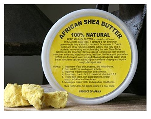 50 Pack - African Shea Butter Cream (100% Pure & Raw, Gol...