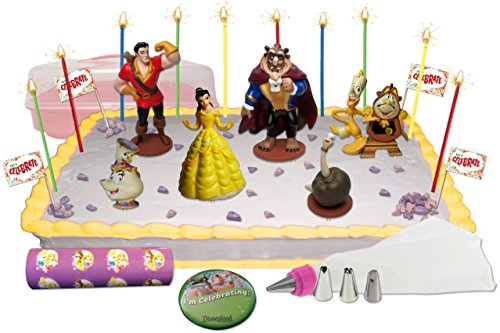 Disney's Beauty and the Beast Deluxe Cake / Cupcake Topper Decorating Kit