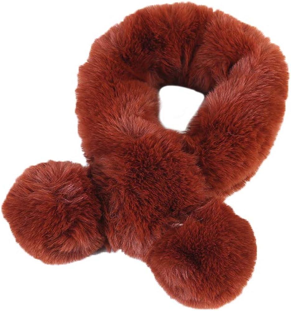 YAKEFJ Kids Winter Thick Warm Scarf for Girl Extreme Soft Furry Fleece Neck Warmer