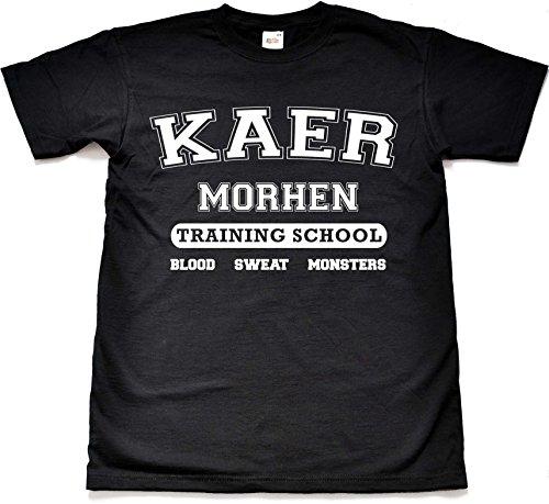 Teamzad Kaer Morhen Training School Black T Shirt Medium