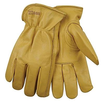 "Kinco 98-XL-1 Unlined Grain Cowhide Glove, 12.5"" Height, 0.64"" Length, 5"" Width"