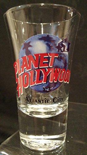 Planet Hollywood Shot Glass, Atlantic City Shot Glass, Planet Hollywood Atlantic City Shot Glass