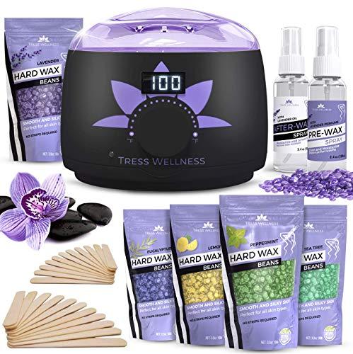 Home Waxing Kit Wax Warmer Hair Removal Waxing Kit - Professional at Home Waxing Kit - Wax Machine for Body Wax - Hard Wax Kit Wax Pot - Waxing Pot Brazilian Wax Kit - Hard Wax Warmer Wax Heater ()