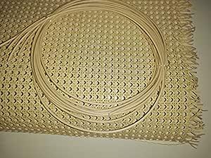 Kit de Rejilla Mimbre para reparación de sillas, Incluye junquillo para su Montaje (51 x 60 cm)