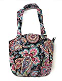 Vera Bradley Glenna with Solid Interiors (Parisian Paisley With Solid Black Lining)