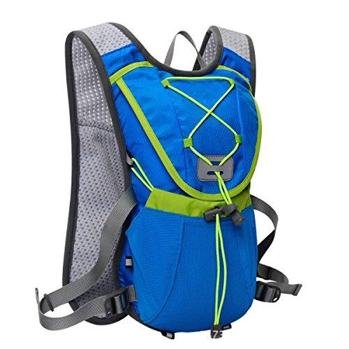Yy.f12L Respirable Ultra-ligero Andar En Bandolera Mochilas Correr Senderismo Paquete Bolsa Impermeable Al Aire Libre Profesional Bolsos De Montaña Viajes. Multicolor Blue