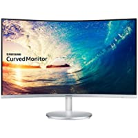 Samsung Electronics Korea Super Slim Curved Design C27F591F LED Curved White Monitor 27 inches sRGB 119%