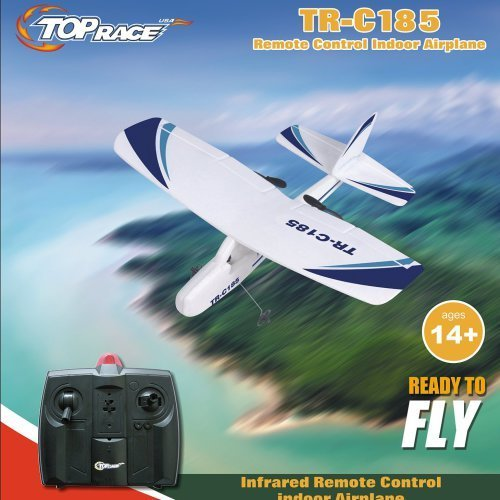 Top Race Cessna C185 Electric 2 Ch Infrared Remote Control RC Airplane,...