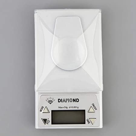 ZHANGYUGE Báscula Digital de Alta precisión 10/20/50G 0,001 g LCD Digital de Laboratorio Balanza de Cocina Balanza de Hierba de Joyería Peso gramo balanzas ...