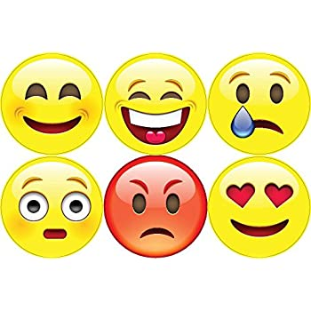 Amazoncom Emoji One Peel Stick Wall Decal Winking Face In - Emoji wall decals