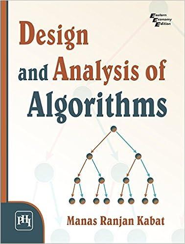 DESIGN AND ANALYSIS OF ALGORITHMS EBook MANAS RANJAN